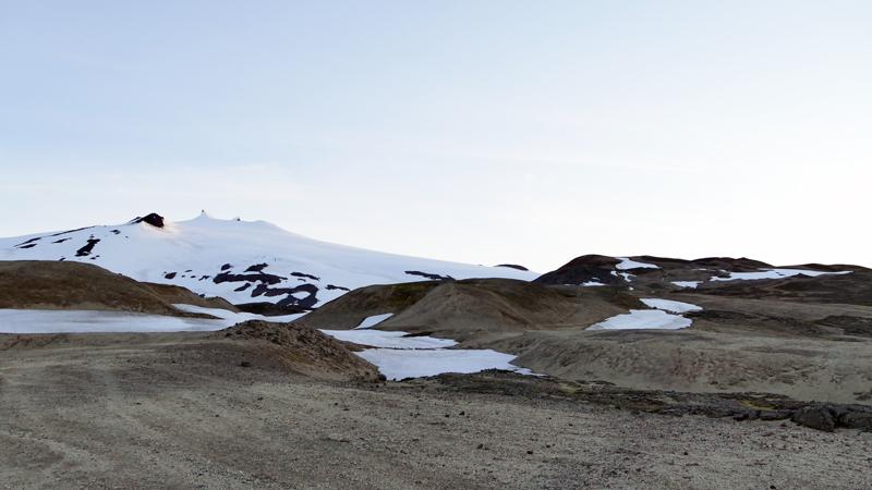 circuit guidé en Islande, volcan snaefellsjokull sur la péninsule de Snaefellsnes
