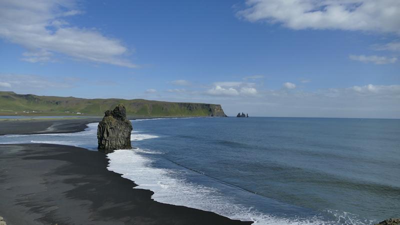 circuit guidé en Islande, plage de sable volcanique de Vik