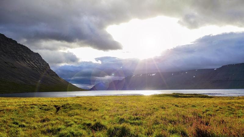 circuit en Islande dans les westfjords à Dynjandisvogur
