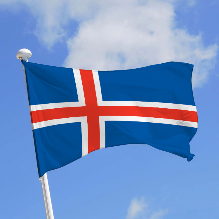 Islande contemporaine, le blog : Drapeau officiel de l'islande