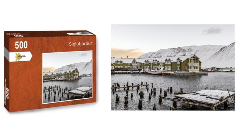 Siglufjordur, puzzle 500 pièces, par Jean-Yves Petit