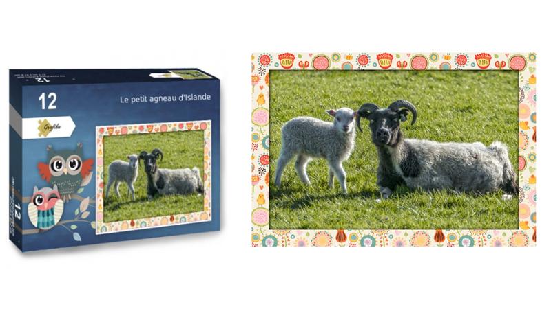 Le petit agneau, puzzle 12 pièces XXL, par jean-Yves Petit