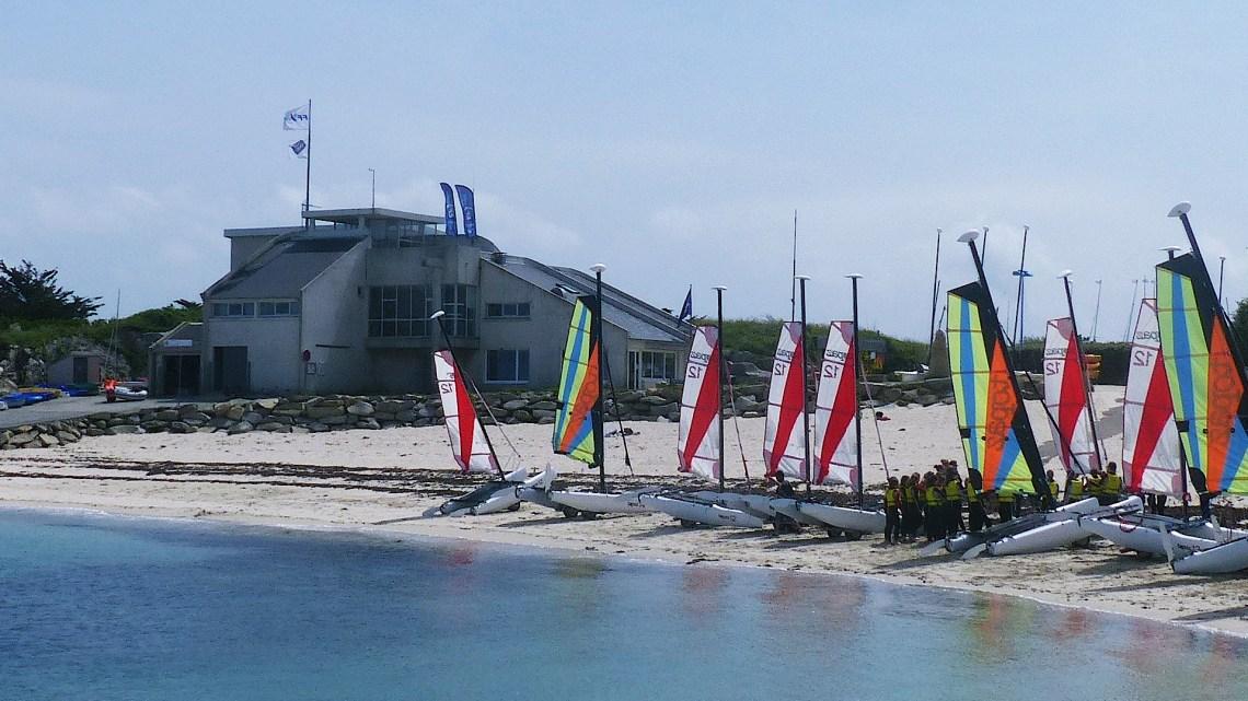 Base nautique de l'île grande : conviviale et accessible