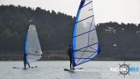 base nautique de l'île grande : planche à voile
