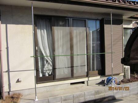 グリーンカーテン支柱仮組