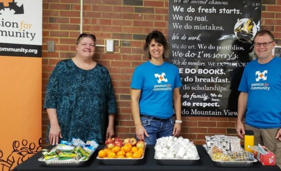 Passion for Community is more than just delivering furniture. Some of our volunteers provided free breakfast snacks to Mountain View High School students in celebration of completing the 1st quarter of the 2019-2020 school year. Do you have Passion for Community?