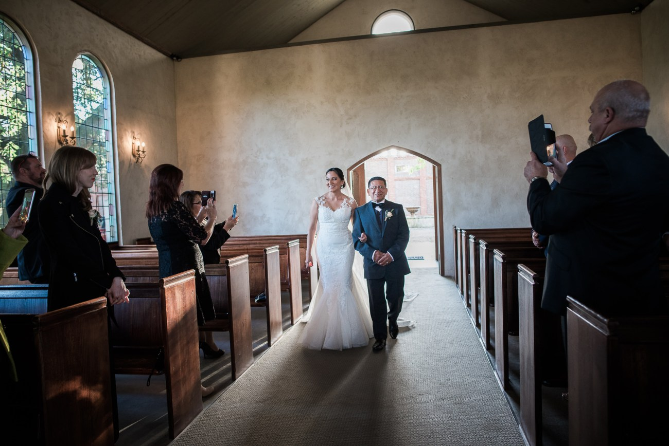 Wedding ceremony at Stones of the Yarra Valley