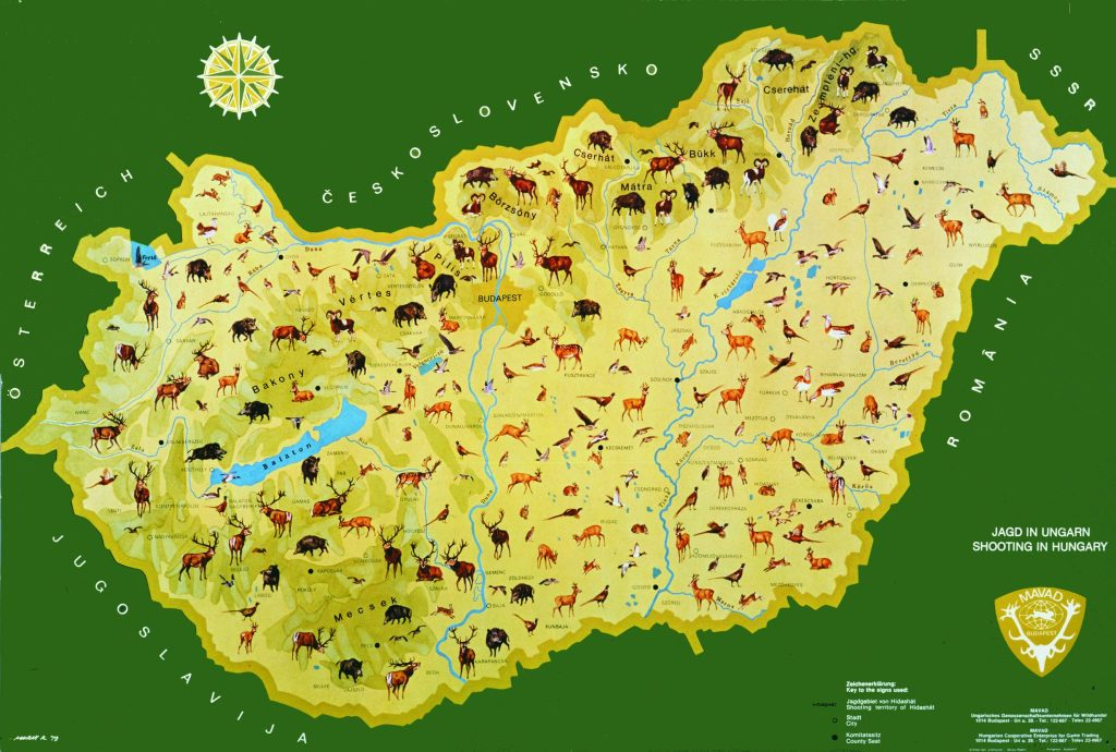 Hunting Map of Hungary