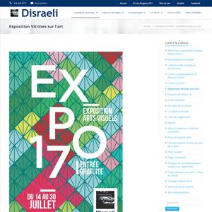 Concours Vitrines sur l'Art Disraeli