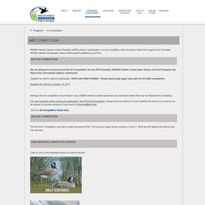 Wildlife Habitat Canada Art Competition