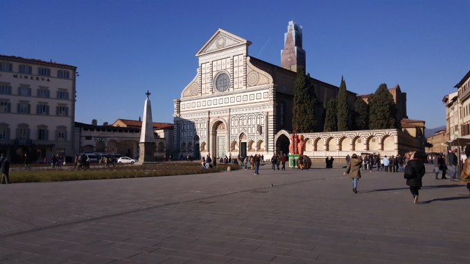 Piazza Santa Maria Novella and the church's 14th century Renaissance facade