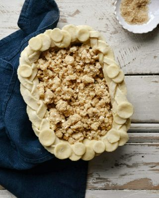 Lemon & Blueberry Crumble Pie