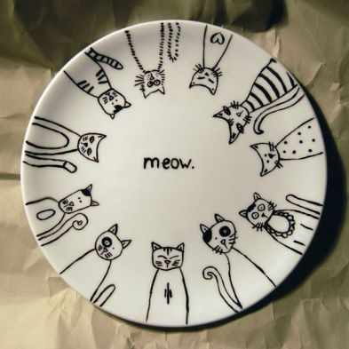 Sharpie - draw on plate