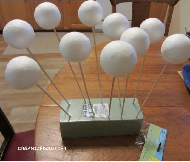 25 Days Of Dollar Tree DIY Day 18 Glitter Snowballs