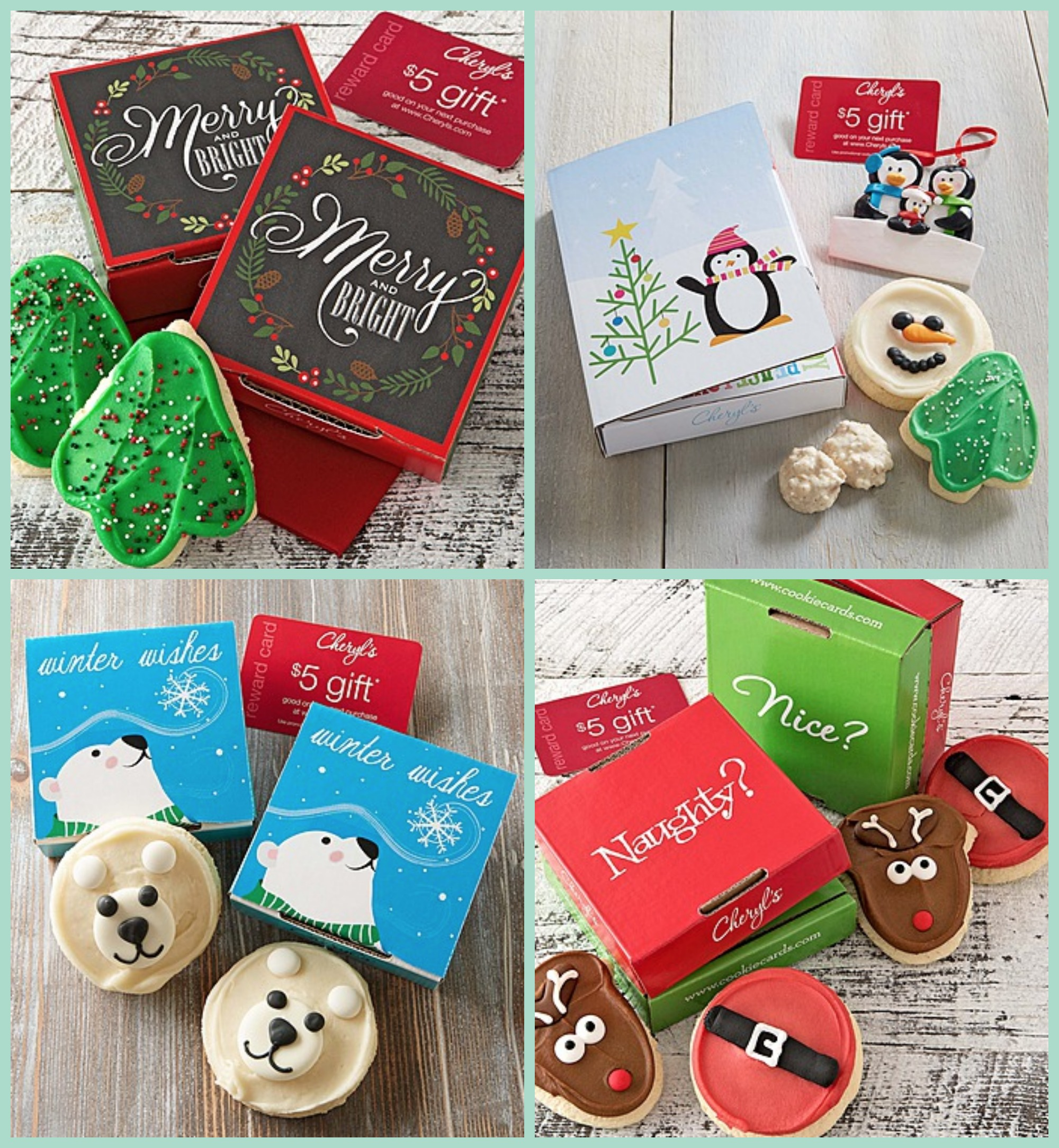 Cheryls Holiday Cookie Cards 5 Shipped Groupon Deal