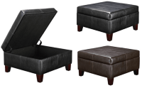 Faux Leather Square Storage Ottoman $69