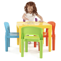 Tot Tutors Kids Plastic Table and 4 Chairs Set $32 ...