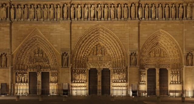 Portails de Notre Dame de Paris