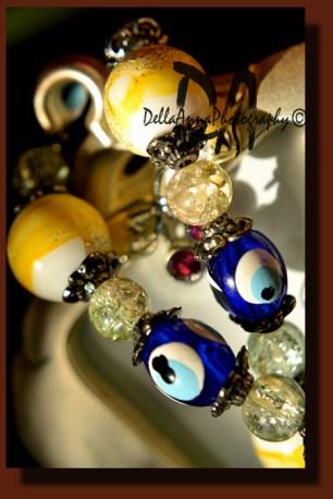 Evil eyes beads bracelet
