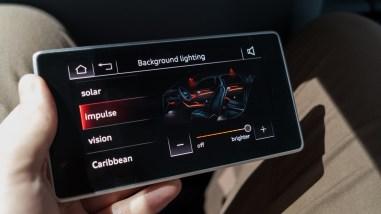 Bedieneinheit im Fond des Audi A8