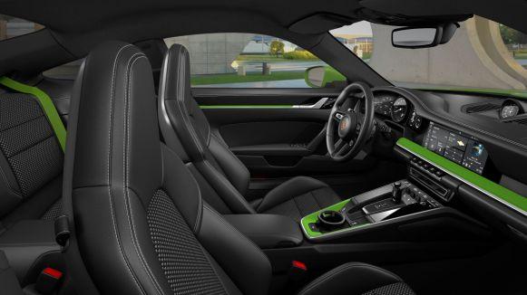 Porsche 911 Carrera S (992) Lizardgrün; Lizard Green Innenraum Interior