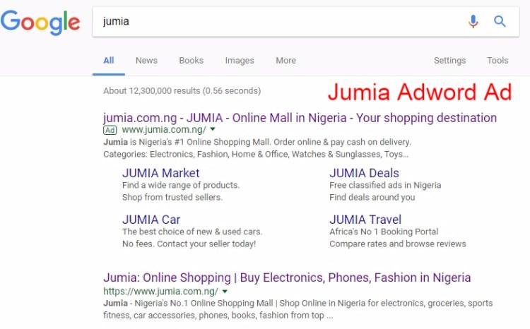 Jumia adword ad