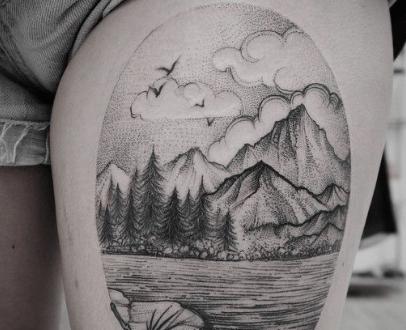 Tatuaggio paesaggio alcune dritte  PassioneTattoo