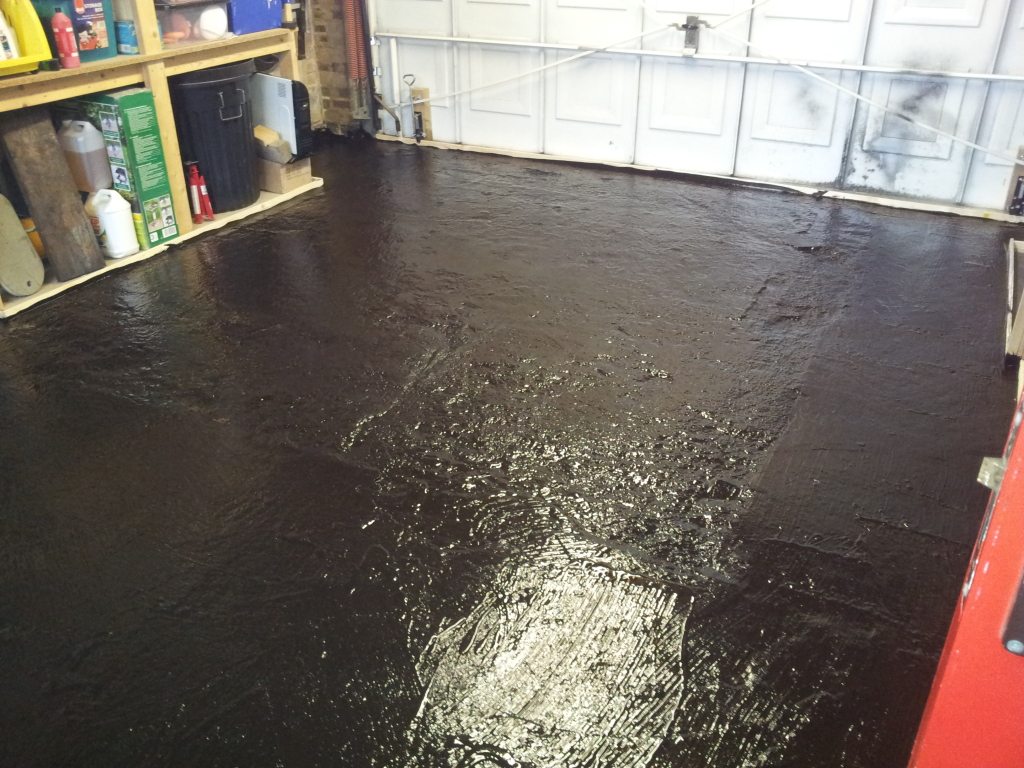 Self Leveling Compound and painting Garage floor advice