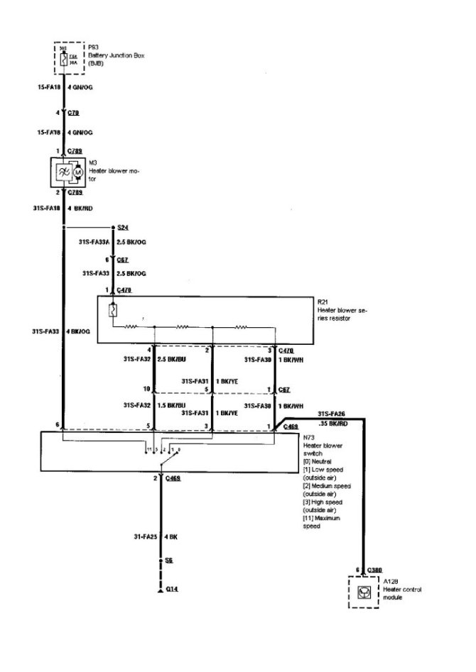 2005 ford focus air conditioning wiring diagram  automotive