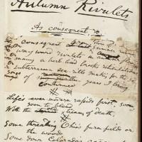 Walt Whitman's Autumn Rivulets