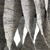 Ivano Vitali's newspaper yarn works
