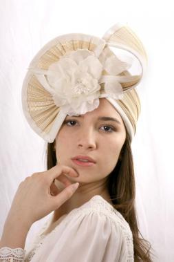 elegant-wedding-headband-cream-fascinator-headpiece-ivory-hat-headpiece-kentucky-derby-hat-bridal-headpiece-haute-couture-headband