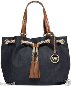 michael-kors-marina-brown-denim-navy-large-gathered-tote-purse-handbag-96c7081b08dfa818ffaa6e4e99e8a34a