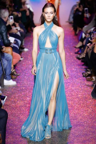 spring-summer-2017-runway-look-fashion-show-elie-saab-blue-slit-halter-neck-dress