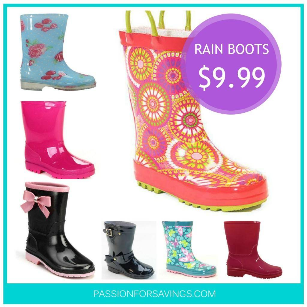 Girls Rain Boots On Sale  Starting At $999