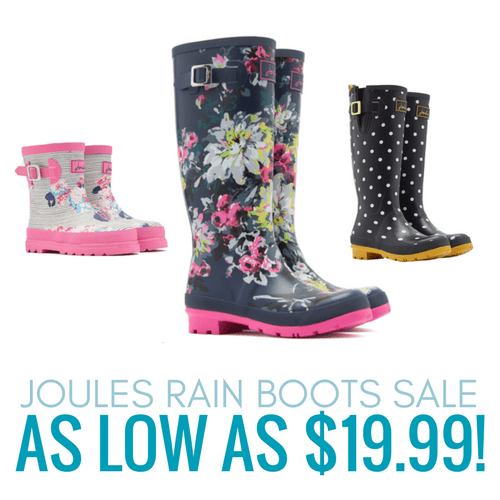 Joules Rain Boots On Sale For As Low As $1999