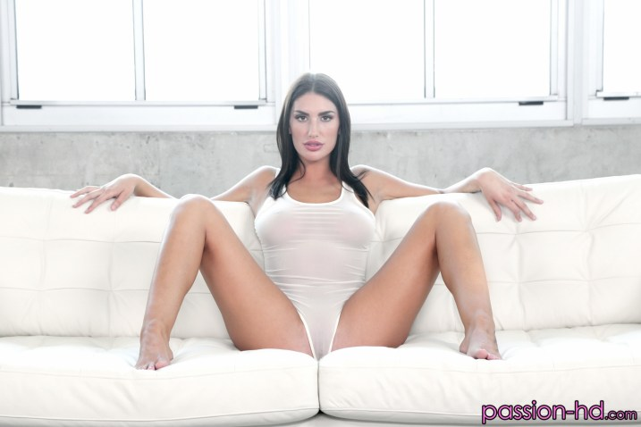 August Ames in Balcony Tease 2
