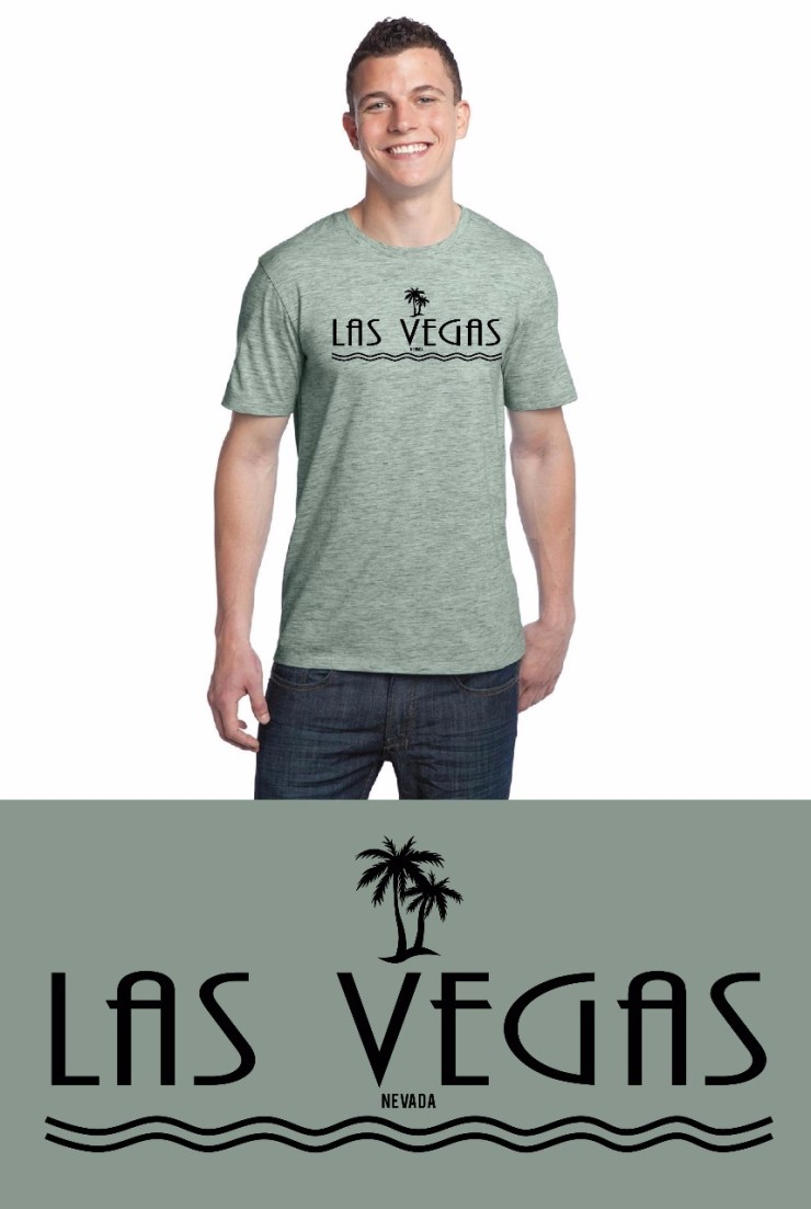 Light Green Las Vegas T-Shirt Image