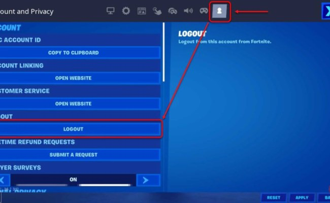 How To Sign Out Of Fortnite Account On Pc Cute766