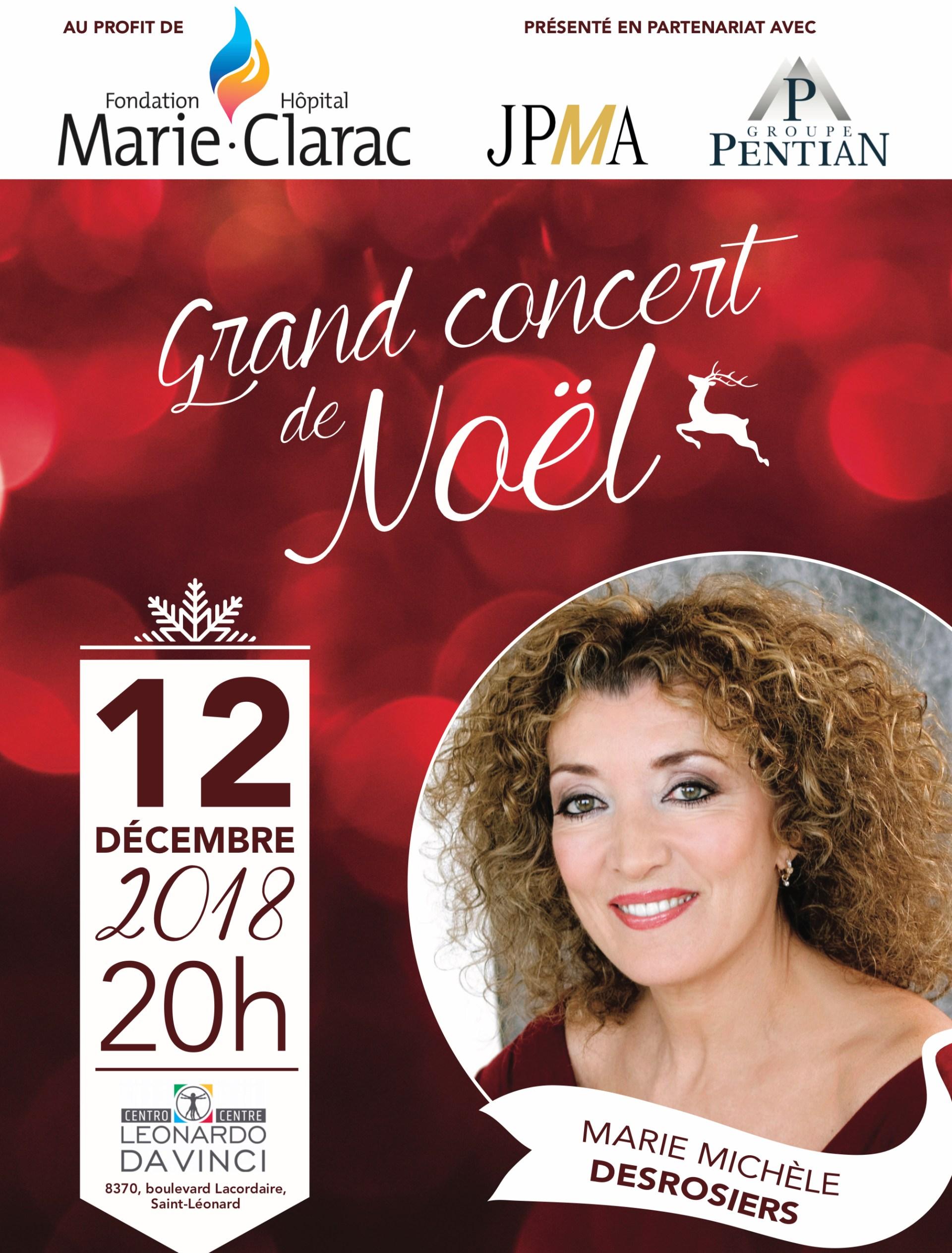 Concert? de Noël de la Fondation de l'hôpital Marie-Clarac Affiche