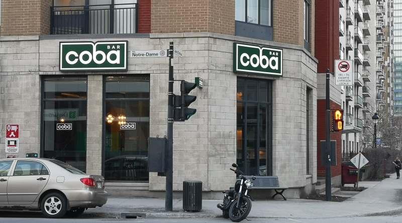 Coba bar Griffintown devanture rue Notre-Dame photo Passion MTL