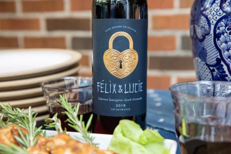 bouteille de vin Félix & Lucie