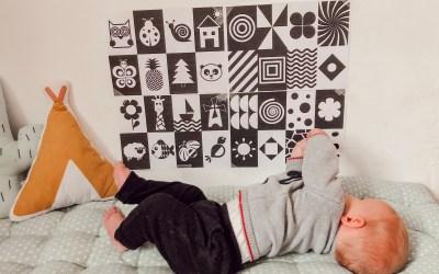 Mur à contraste et mur d'art pour bébé