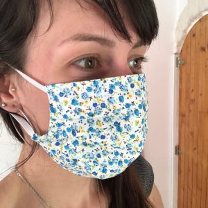 masque en tissu, masque fait main, masque fait maison, masque couturière, masque coronavirus, joli masque