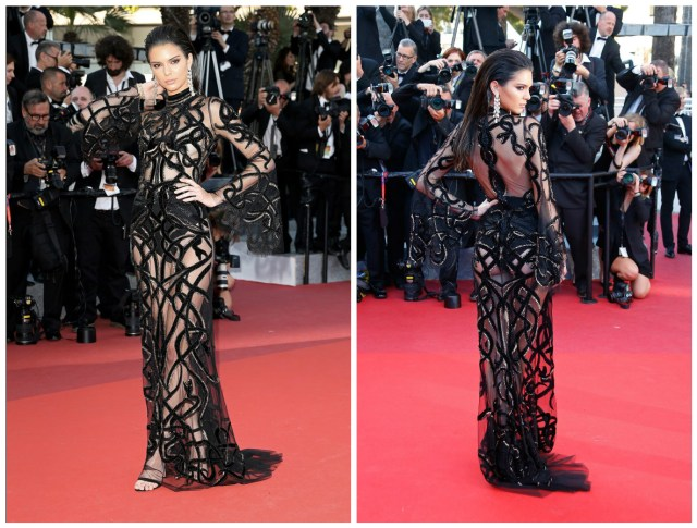 kendall jenner en cavalli couture