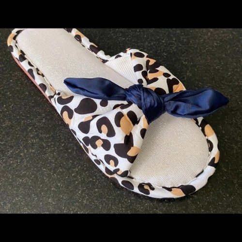 Women Stylish Animal Print Bow-knot Slippers Women