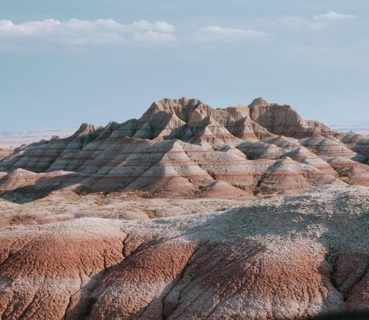 badlands, top of list of places to visit in north dakota