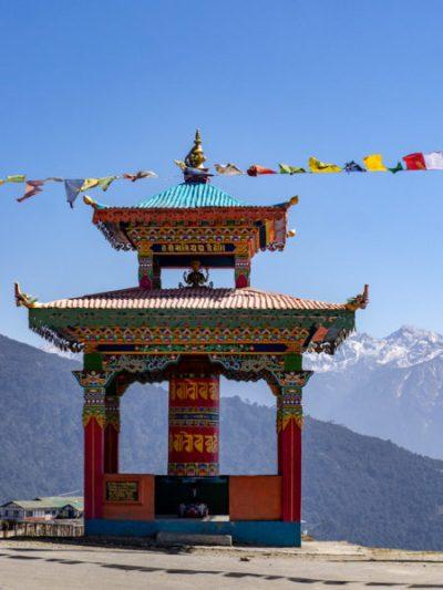 A shrine in Arunachal Pradesh, India's northeastern region