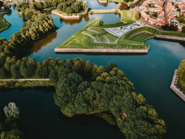 The surrounding canals of fortress city Naarden