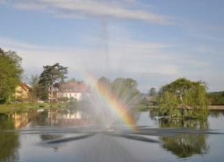 a fountain in kudowa zdroj, a polish health resort